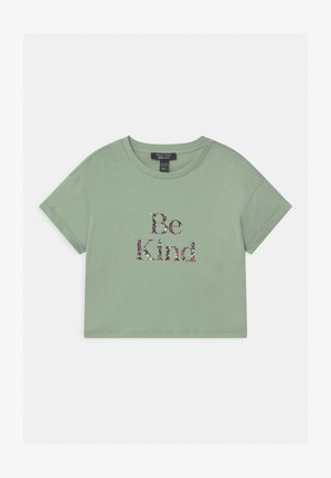 BE KIND FLORAL LOGO  - Print T-shirt - green