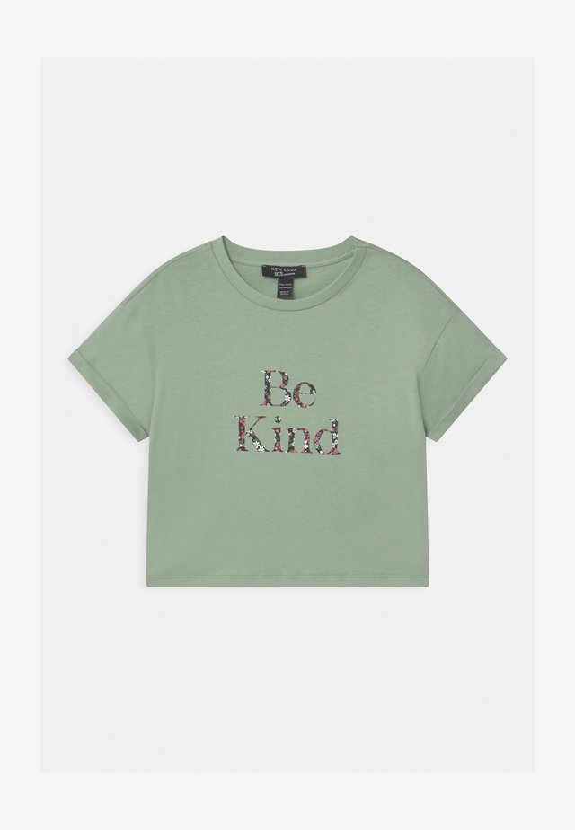 BE KIND FLORAL LOGO  - T-shirts med print - green