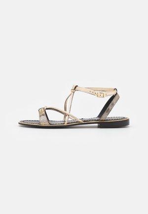 HIRONBLA - Sandals - noir/or
