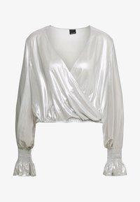 Pinko - MAIONESE BLUSA GEORGETTE LAMIN - Blus - argento metallizzato - 4