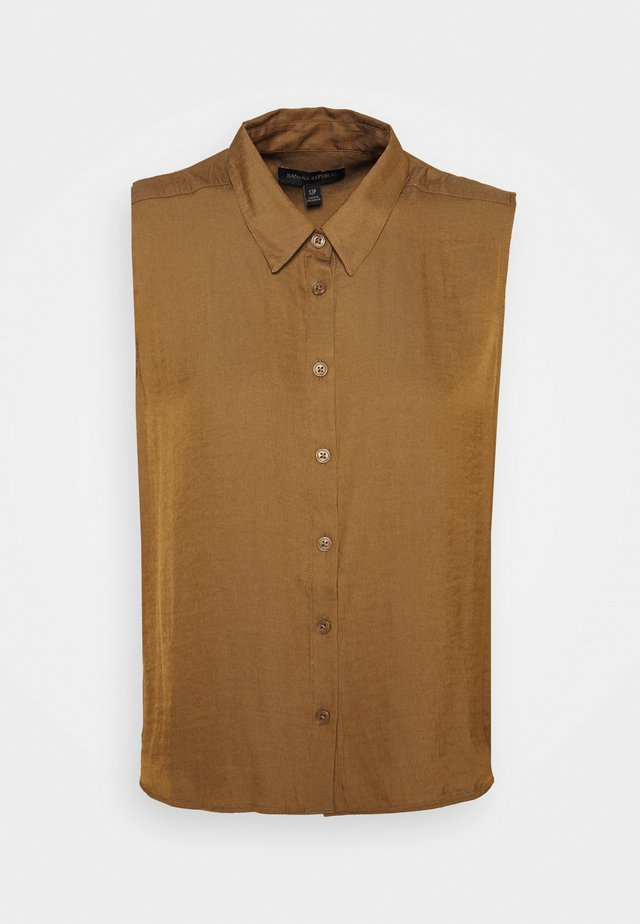 BUTTON UP - Camicetta - dry mustard