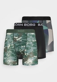 Björn Borg - DIGITAL WOODLAND SHORTS 3 PACK - Culotte - duck green - 4