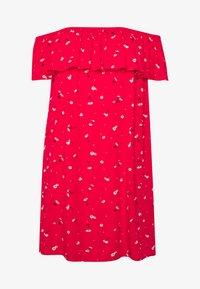 Pour Moi - TEXTURED PRINT BARDOT BEACH DRESS - Ranta-asusteet - red - 4