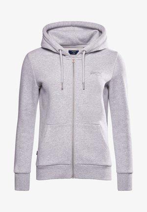 ORANGE LABEL - Zip-up sweatshirt - light grey marl