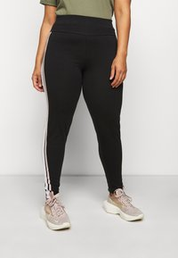 New Look Curves - DOUBLE SIDE STRIPE - Leggings - Trousers - black - 0