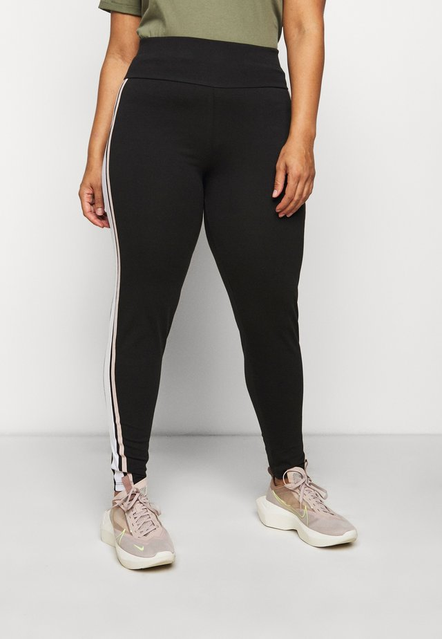 DOUBLE SIDE STRIPE - Leggings - black