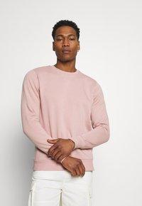 Brave Soul - Sweatshirt - dusky pink/ light grey marl - 0