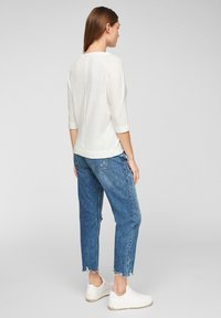 s.Oliver - MET 3/4-MOUWEN - Long sleeved top - offwhite - 2