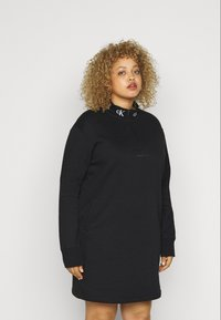 Calvin Klein Jeans Plus - LOGO TRIM - Vestito estivo - black - 0