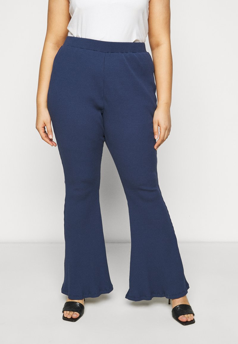 Glamorous Curve - FLARE TROUSERS - Trousers - teal