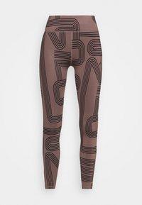 ONPJOYA TRAIN  - Leggings - deep taupe/black
