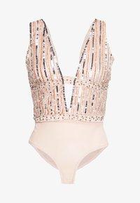 Lace & Beads - MYLA - Bluse - nude - 4