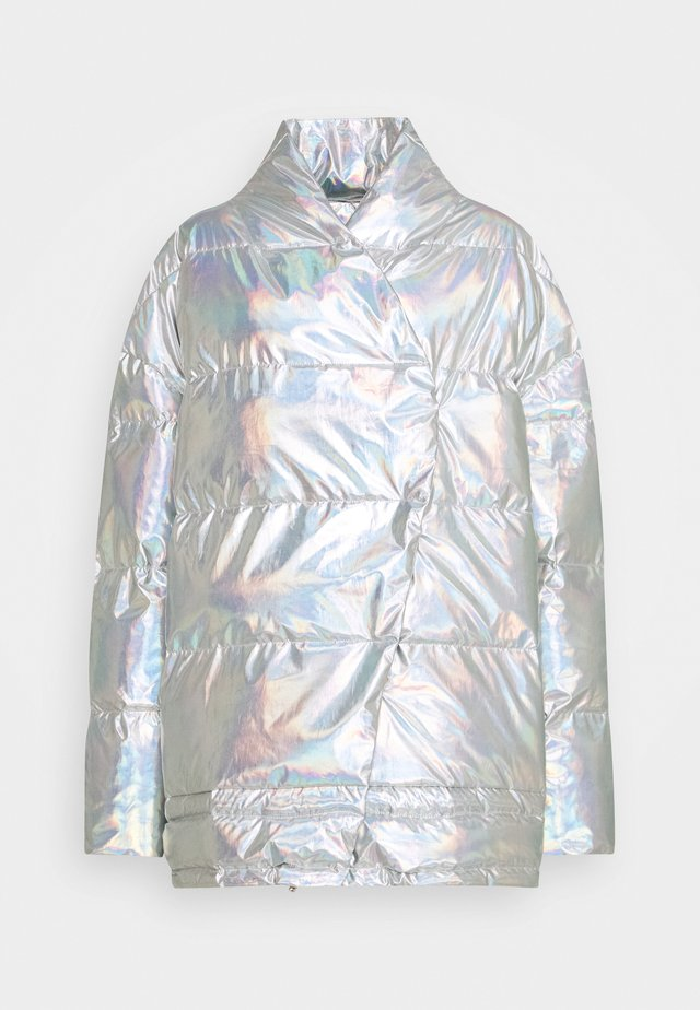 LUNGA PUFFER COAT - Winter coat - silver