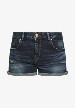 JUDIE - Denim shorts - dark blue denim