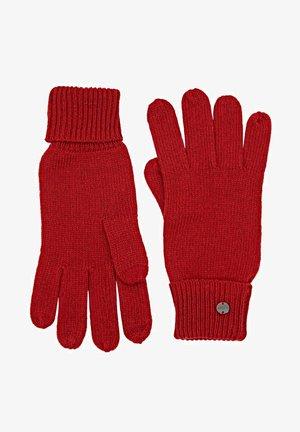 Gloves - dark red