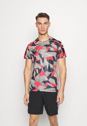 RESPONSE PRIMEGREEN RUNNING SHORT SLEEVE TEE - T-shirts print - grey/pink