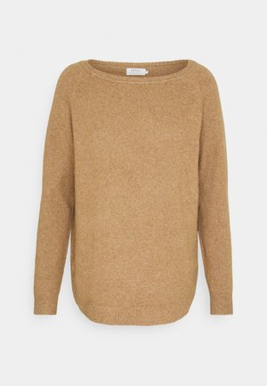ONLELENA BOATNECK - Jumper - toasted coconut / white melange