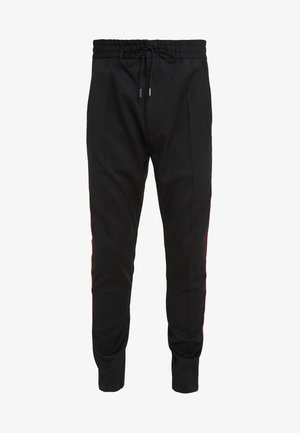 ZANDER - Pantaloni - black/red