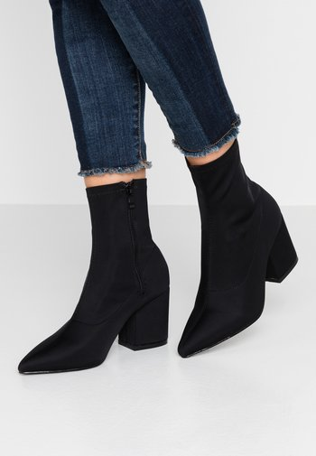 WIDE FIT KINLEY - Classic ankle boots - black