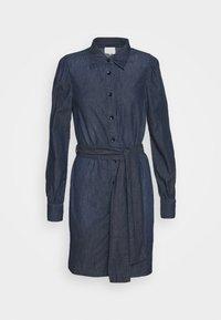 ENYA DRESS - Denim dress - dark blue