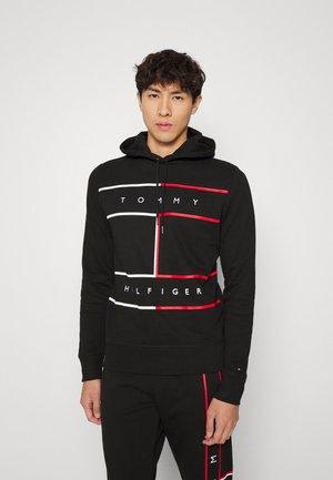 LARGE FLAG HOODY - Sweatshirt - black