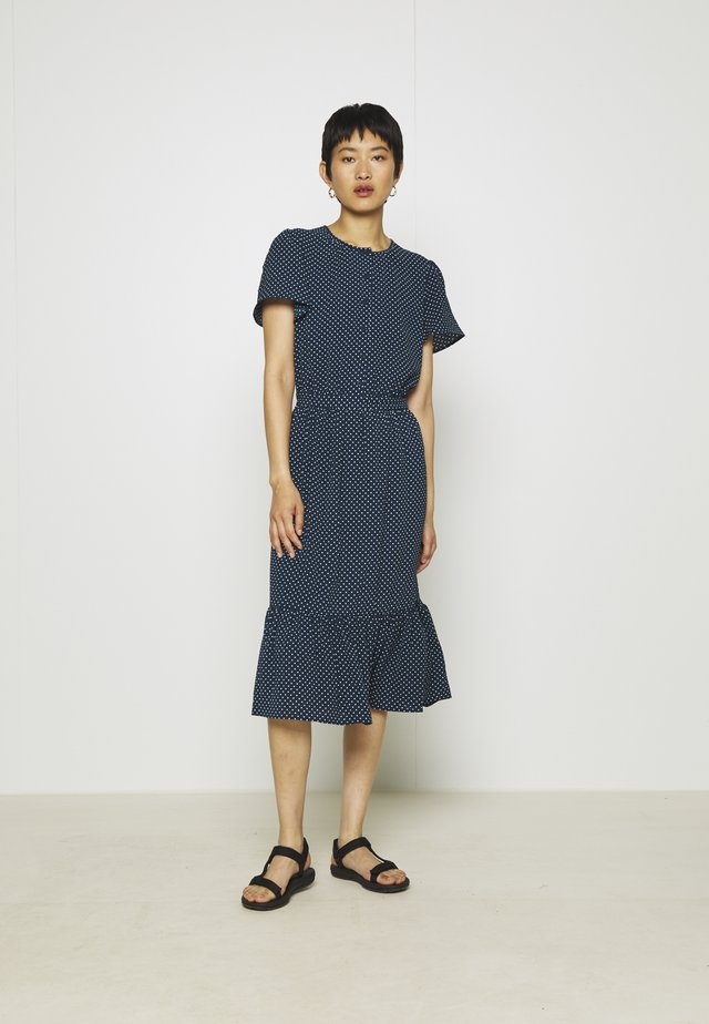 SAGA - Day dress - blue/white