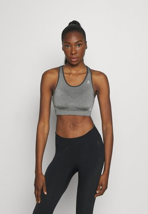 SPORTS BRA SEAMLESS MEDIUM CERAMICOOL - Medium support sports bra - grey melange