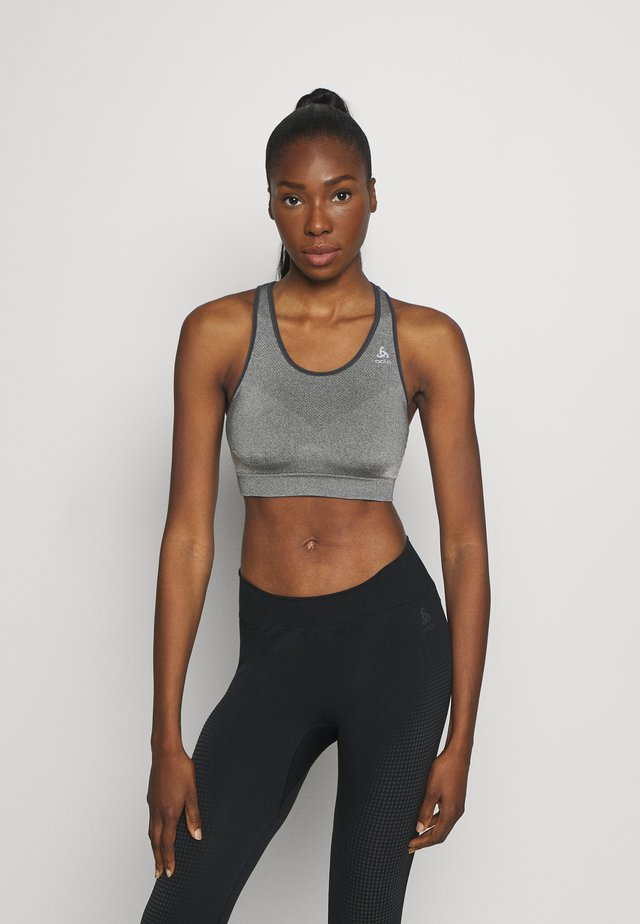SPORTS BRA SEAMLESS MEDIUM CERAMICOOL - Sports bra - grey melange