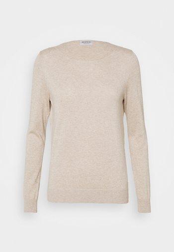 Stickad tröja - beige melange