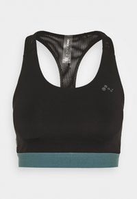 ONPSULA TRAINING BRA - Medium support sports bra - black/goblin blue