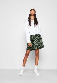 Even&Odd - A-line skirt - white/green - 1