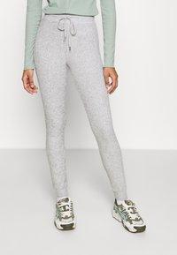 Topshop - NEW BRUSH JEGGER - Teplákové kalhoty - grey - 0