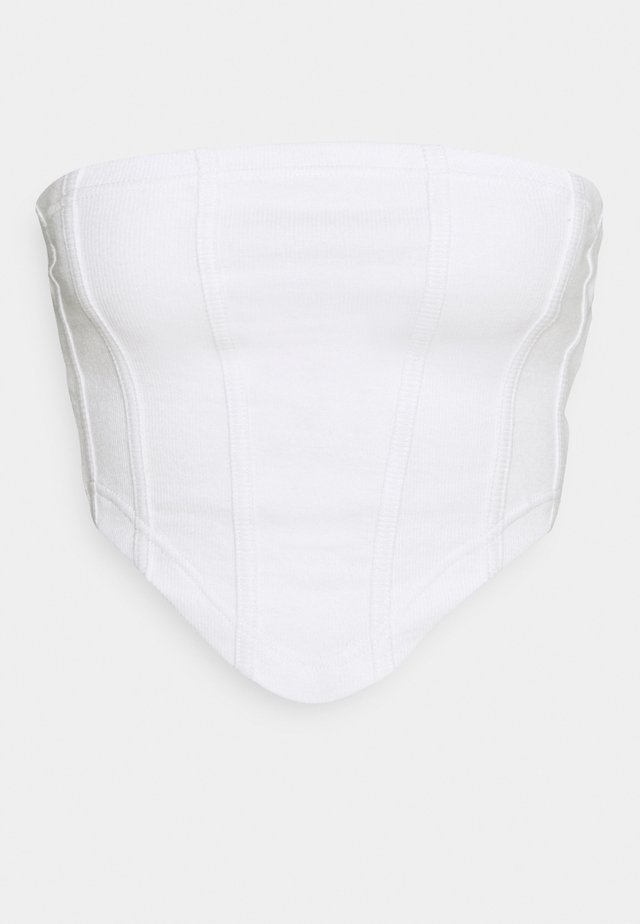 STRUCTURED BANDEAU CORSET - Toppi - white