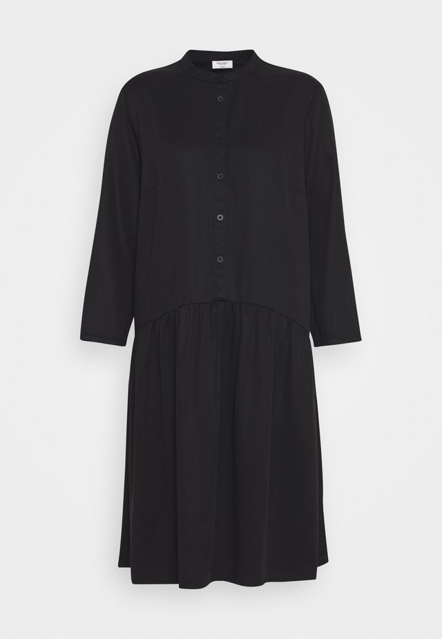 DRESS SHORT SLEEVE - Shirt dress - black