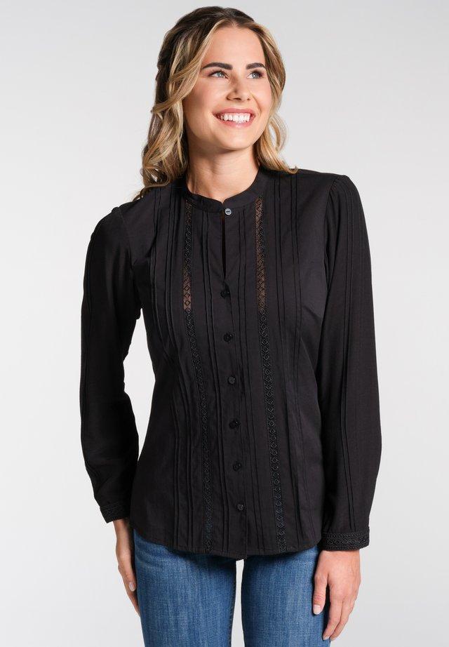 NIZZA - Button-down blouse - black