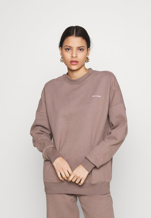 LOGO CREWNECK - Sweatshirt - major brown