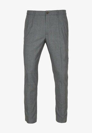 PLEAT - CERAMICA RETRO CHECK - Trousers - check