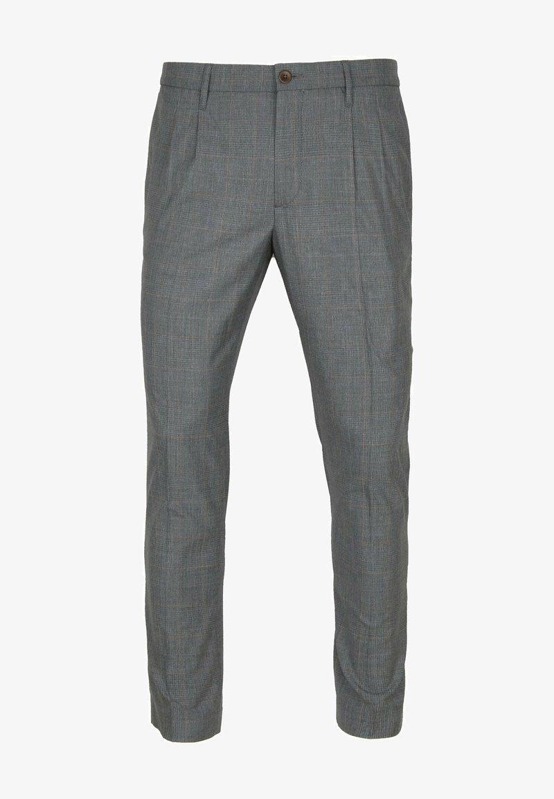 ALBERTO Pants - PLEAT - CERAMICA RETRO CHECK - Trousers - check
