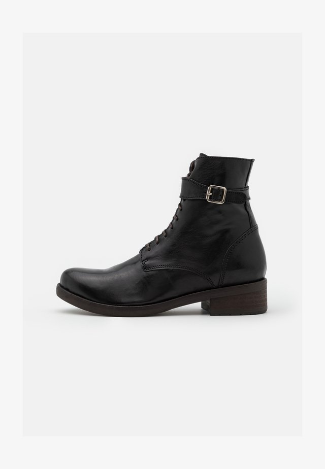 Lace-up ankle boots - old iron