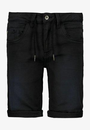 Denim shorts - off black