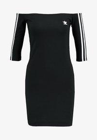 adidas Originals - ADICOLOR OFF SHOULDER DRESS - Fodralklänning - black - 4