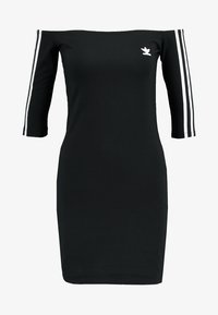 adidas Originals - ADICOLOR OFF SHOULDER DRESS - Etui-jurk - black - 4