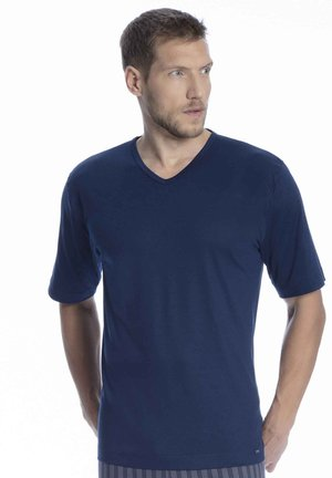 SCHLAFSHIRT V-NECK - Pyjama top - neptune