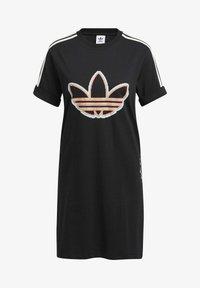 adidas Originals - LOVE UNITES T D - Jersey dress - black - 6