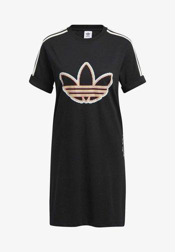 LOVE UNITES T D - Jersey dress - black
