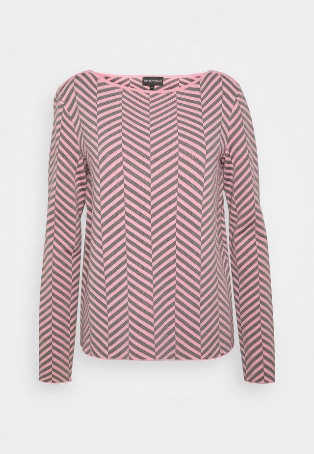 Sweter - rosa fumetto