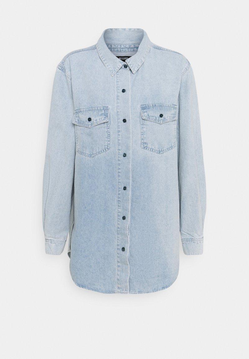 Missguided - BOYFRIEND FIT - Button-down blouse - blue