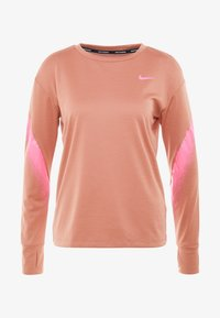 Nike Performance - MIDLAYER RUNWAY - Camiseta de deporte - terra blush/digital pink - 4
