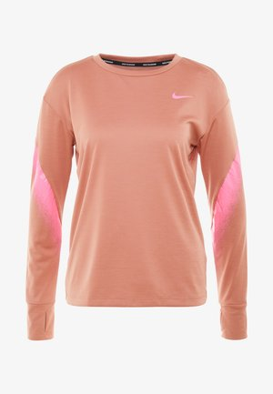 MIDLAYER RUNWAY - Tekninen urheilupaita - terra blush/digital pink