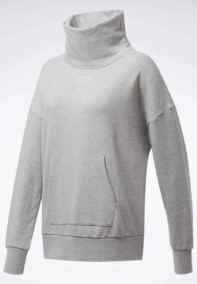 TRAINING ESSENTIALS COVER-UP - Felpa - grey